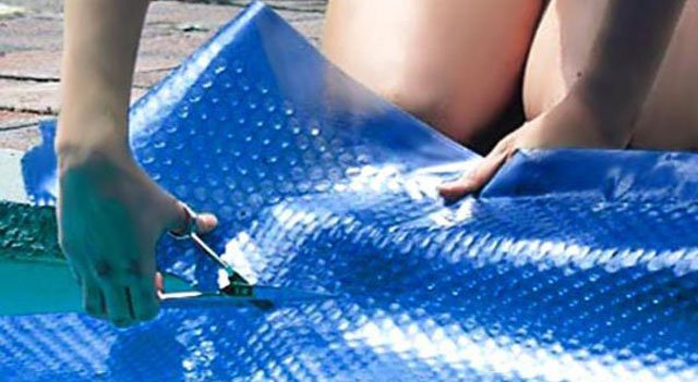 cutting & installing a pool cover