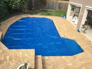Bubble wrap pool cover installation hout bay September
