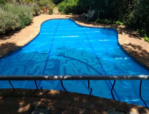 Recent Installation of a pool cover & roll up station.